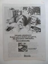 1975 Print Ad Litronix Electronic Calculator ~ Dog Chewing Guarantee