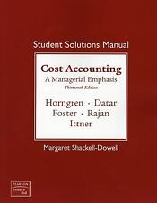 Student Solutions Manual for Cost Accounting and MyAcctgLab Access Code Package