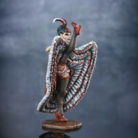 Can Can dancer figurine painted can-can girl model 54mm metal miniature figure