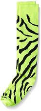 TCK Zebra Stripe Socks, Neon Yellow/Black, Medium