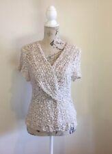 KAMIKO PETITES - 2 Piece Set - Camisole With Lace Top - Size 14 - Beige Colour