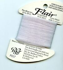 Rainbow Gallery Flair F517 Pale Antique Violet Stretchable Tubular Ribbon 10yds