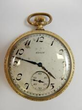 1924 Elgin National Watch Co. Pocket Watch, 16s 7j, Gold Filled Case #Pw4