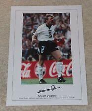 Stuart Pearce England Hand Signed Autograph A3 Photo Print Memorabilia + COA