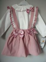 Girls Designer Portugal Fruit De Ma Passion Pink Strapped Skirt & Top 24Mth BNWT