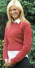 KNITTING PATTERN Ladies Classic V Neck Jumper Long Sleeved Sweater Rowan PATTERN