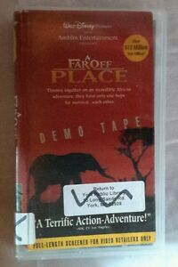 Walt Disney A Far Spento Place VHS Film Demo Nastro Hard Plastica Case Amblin