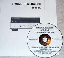 Hp Hewlett Packard 59308A Timing Generator:Trainig,Operati ng & Service Manuals-2