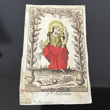 Gravure Image Pieuse SAINTE JULIENNE XVIIIè French Etching 18thC