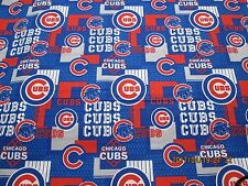 CHICAGO CUBS MLB 100% COTTON 1  YARD  PIECE BRAND NEW  SPORT DESIGN JUST OUT #3
