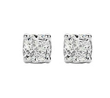 2.05 Ct Cushion Cut Diamond Earrings with 14K Gold F/vs2 Certificate Natural