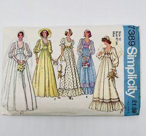 Vintage 70s Simplicity 7389 Sewing Pattern Wedding cottage Bride Bridesmaid 12