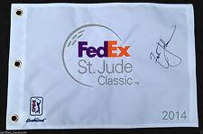 ZACH JOHNSON SIGNED 2014 FED EX ST JUDE CLASSIC FLAG PGA CHAMPIONSHIP PROOF J1
