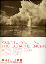 Auction catalog Phillips de Pury Photo Photographs 1840-1940 APRIL 22/23 2004
