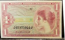 Vietnam 1965-69 Era MPC Series 641 1 Dollar Unc Military Payment Certificate