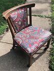 A Brandt Ranch Oak Side Chair Southwestern Style 1950's w/Upholstery