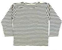 JA Collection Blue Striped Cotton Womens Long Sleeve T-Shirt Size S (Regular)