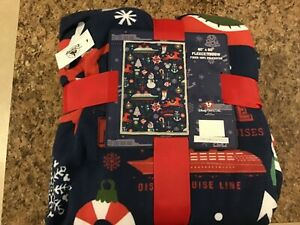 Disney Cruise Line Holiday Christmas Fleece Throw Blanket NWT