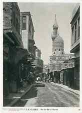 Egypte, Le Caire, rue de Bad El Charieh   Vintage print,  Tirage argentiqu