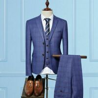 Men's Suit Set Formal Cotton Wool Button Fly Single Breasted Skinny Clothing New