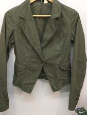 Women's Ladies Green Short Jacket Lightweight Military Style Smart Casual Size 8