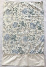 Vintage Wamsutta Pillowcase Ivory Pale Blue Floral Standard Size USA