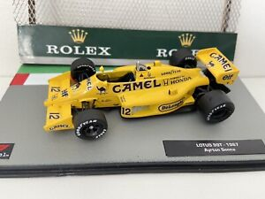 F1 Car Collection Xtra - Ayrton Senna Full CAMEL Lotus Honda 99T 1987- Superb