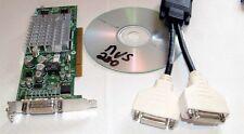 Nvidia Quadro NVS280 64MB Dual View LP SFF DVI VGA Windows7 PCI Video Card + Cbl