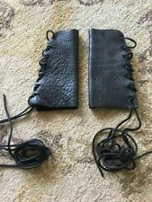 Leather arm gauntlets - worn once