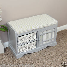 french grey shabby chic telephone bedroom seat painted storage furniture storage