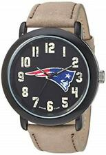 New England Patriots Game Time Men's 'Throwback' Quartz Metal and Leather Watch