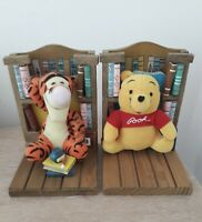 Disney Bookend Buddies Bookends Pooh Tigger Books Vgc