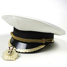 RUSSIAN USSR SOVIET FEDERATION NAVY HIGH RANKING OFFICER DRESS CAP VISOR HAT 58