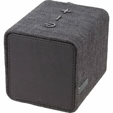 Black Cotton Canvas Wrapped Bluetooth Speaker - Enjoy Music & Conference Calls