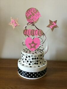 Birthday Cake Topper Decoration Personalised  All Ages  Names And Colours
