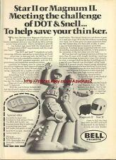 Bell Helmets Star II Motorcycle 1977 Magazine Advert #435