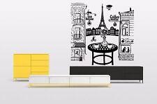 Vinyl Wall Decal Sticker Decor Cafe Restaurant Paris Coffee Food Tea Logo F1498