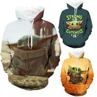 Star Wars The Mandalorian Baby Yoda Hoodies Sweatshirts Cosplay Hooded Jacket