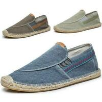 Mens Loafers Outdoor Espadrilles Slip On Soludos Leisure Canvas Casual Shoes sz