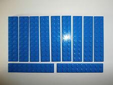 LEGO STAR WARS / CITY   10 Bauplatten 3832 blau 2x10 Noppen  NEUWARE