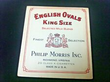 PHILLIP MORRIS CIGARETTE BOX  ADVERTISING