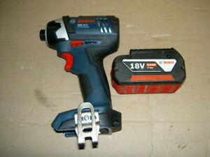 bosch gdr 18-li impact gun and 5amp bosch li-ion battery used