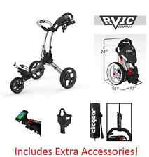 Rovic RV1C by Clicgear Compact Golf Push Cart SILVER Clic Gear 3.5 Pull