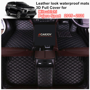 3D Moulded Waterproof Car Floor Mats for Mitsubishi Pajero Sport 2015 - 2021