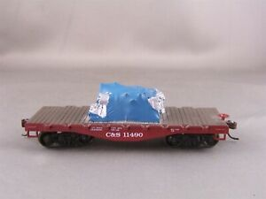 Roundhouse - C & S - 30' Flat Car w/Load # 11490