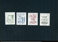 LOT 81717 MINT NH 736 - 739 JEWELRY   STAMPS FROM CZECHOSLOVAKIA