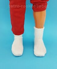 Six Million Dollar Man Replacement White Socks for 13'' Bionic Action Figure