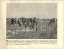 Frenzel, Oscar  ~ Old Artwork ~ Cattle in the Marshlands of the River-Elbe