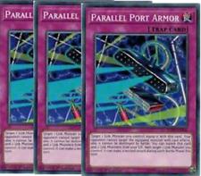 3x  Parallel Port Armor  - Common- EXFO-EN066 -NM- Yugioh -Extreme Force