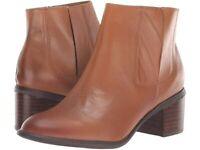 Sofft Women Block Heel Ankle Boots Pueblo Size US 11M Cognac Leather